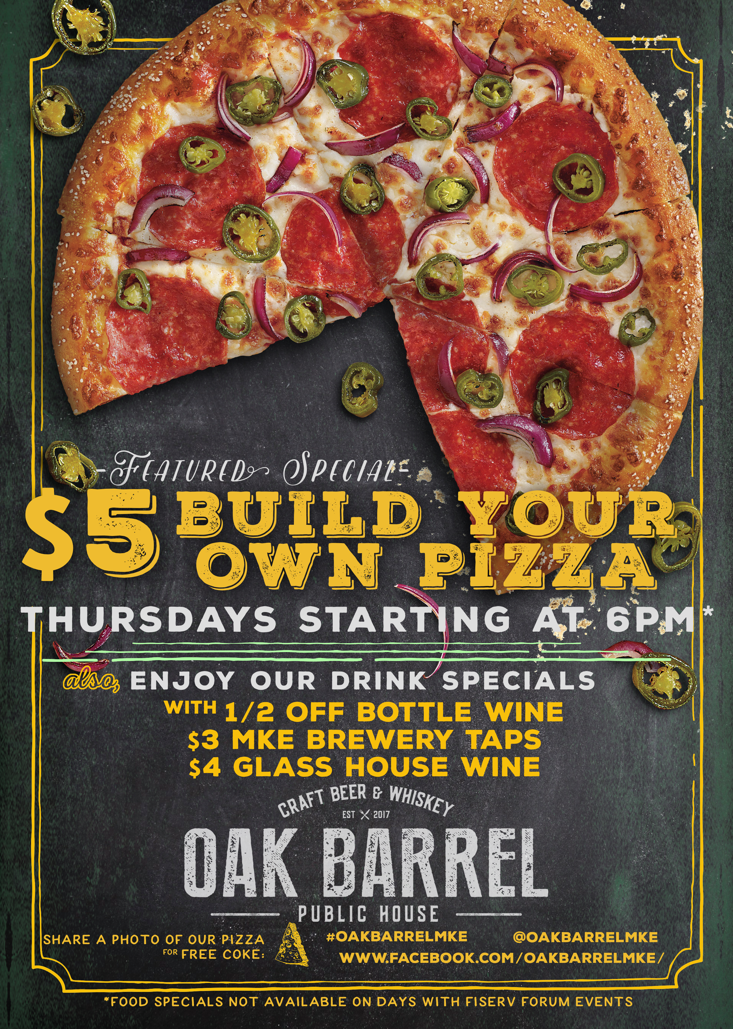 Build Your on Pizza on Thursdays!